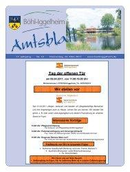 Amtsblatt vom 24.03.2011 (KW 12) - Gemeinde Böhl-Iggelheim