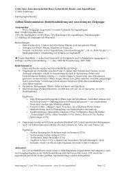 Aufbau Kinderanimation: Bedürfnisabklärung und ... - JaRL