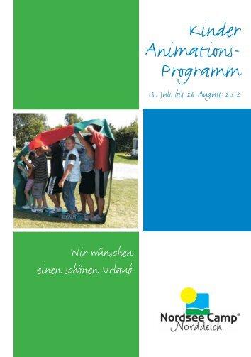 Kinder Animations- Programm - Nordsee-Camp Norddeich