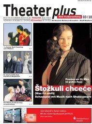 Theaterzeitung März 2010 - Deutsch-sorbisches Volkstheater