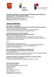 Vorab-Pressekonferenz anlässlich des 39 ... - DGRH-Kongress
