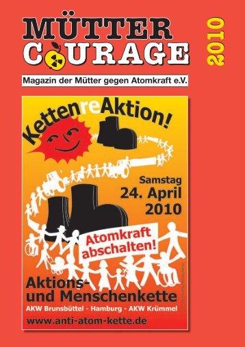 Magazin der Mütter gegen Atomkraft e.V.