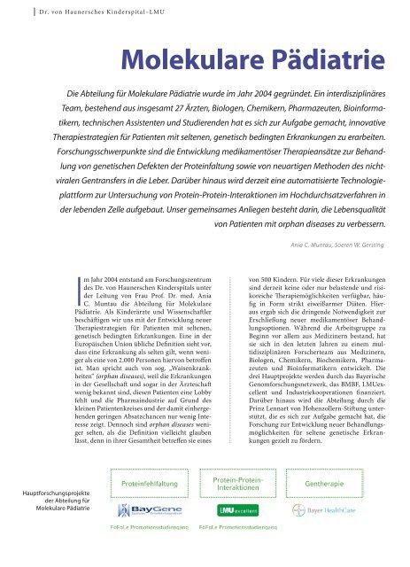 Molekulare Pädiatrie - Hauner Journal