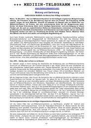 Blutung und Gerinnung - Medizin-telegramm.com