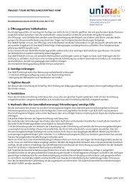 Anlagen zum Betreuungsvertrag UniKids - AkaFö