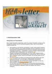 VELB-Newsletter 3/2009 - Europäisches Institut für Stillen und ...