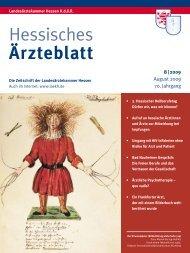 Hessisches Ärzteblatt August 2009 - Landesärztekammer Hessen