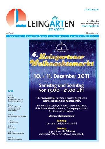 Amtsblatt KW 49 - Gemeinde Leingarten