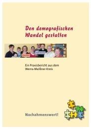Den demografischen Wandel gestalten - Werra-Meißner-Kreis