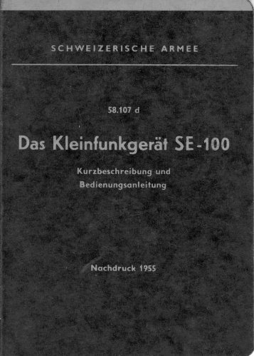 Militär Schweiz: Funkgerät SE-100 / FOX - Empfänger