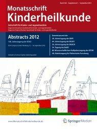 Monatsschrift Kinderheilkunde - Springer Medizin