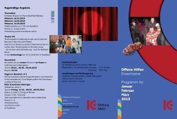 Offene Hilfen Erwachsene Programm für Januar Februar ... - KBZO