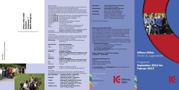 Programm für Kinder und Jugendliche - KBZO