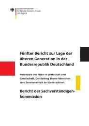 Fünfter Bericht zur Lage der älteren Generation in  der ...