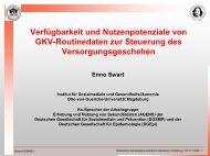 Verfügbarkeit und Nutzenpotenziale von GKV-Routinedaten zur ...