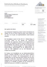 Empfehlungsschreiben des Katholischen Klinikums Duisburg