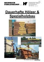 Firmenprospekt - Heinrich Fahlenkamp GmbH & Co.