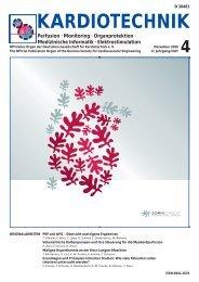 Ausgabe Kardiotechnik 4 / 2008 - Deutsche Gesellschaft für ...