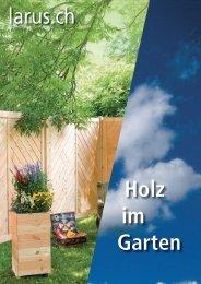 Gesamtkatalog «Holz im Garten - Larus.ch