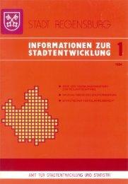 informationen zur stadtentwicklung - Statistik - Stadt Regensburg
