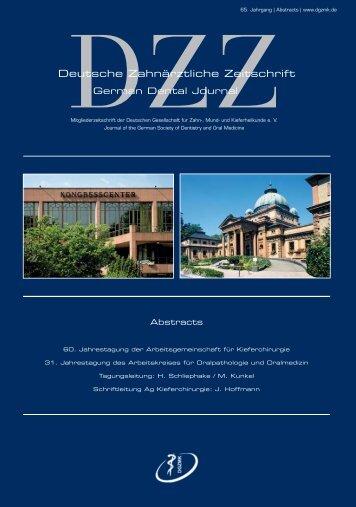 Deutsche Zahnärztliche Zeitschrift - Deutsche Gesellschaft für Mund ...