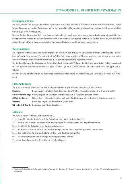 Berufsorientierung · Bewerbung Ausbildungsberufe