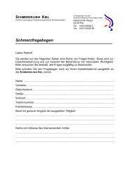 Schmerzfragebogen - Wissensnetzwerk evidence.de
