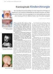 Kraniospinale Kinderchirurgie - Hauner Journal