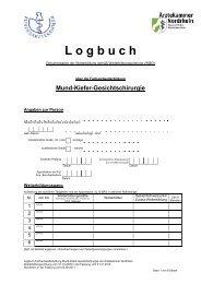 Logbuch - Ärztekammer Nordrhein