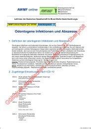 007-006 S2 Odontogene Infektionen und Abszesse 02 ... - AWMF
