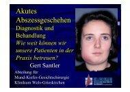 Akutes Abszessgeschehen - OCMR