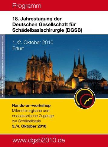 Programm www .dgsb2010 .de
