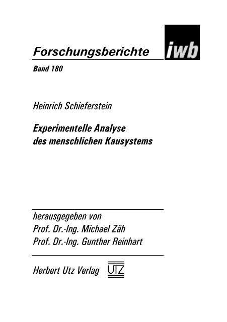 und Einleitung (132 KB) - Herbert Utz Verlag GmbH