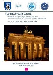 19. JAHRESTAGUNG ARCHIS - Ärztekammer Berlin