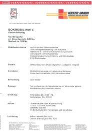 Prospekt Bokimobil mini Elektro
