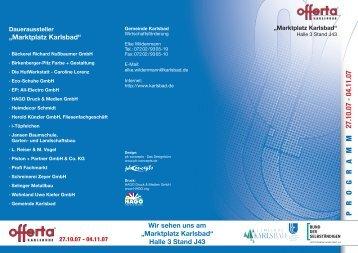 Das Programm - Gemeinde Karlsbad