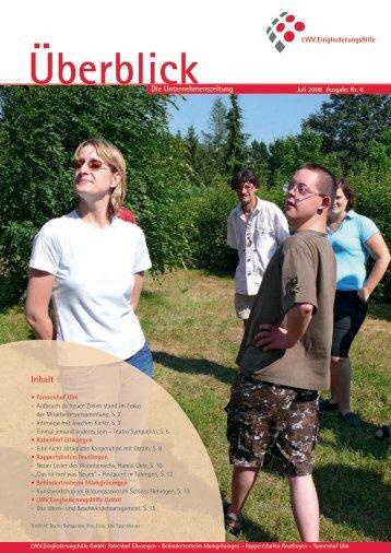 Überblick Juli 2008 - LWV.Eingliederungshilfe GmbH