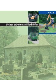 Sicher Arbeiten auf Friedhöfen - GBG 2 - LSV