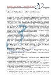 Adjuvante Antibiotika in der Parodontitistherapie - Deutsche ...