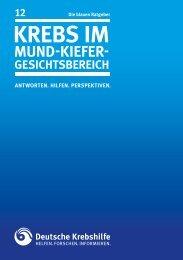 Krebs im Mund-, Kiefer-, Gesichtsbereich - Deutsche Krebshilfe eV