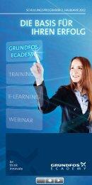 Schulungsprogramm - 2. Halbjahr 2012 - Grundfos