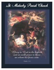 Saint Malachy Parish Bulletin - 23. December 2012 - St. Malachy ...