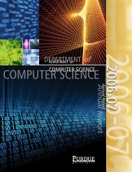 Annual Report 2006-07 - Department of Computer Science, Purdue ...