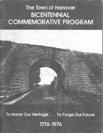 Town of Hanover Bicentennial Program 1976 (.pdf file