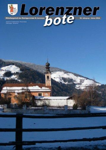 Lorenzner Bote - Ausgabe Jänner 2011 (1,58 MB