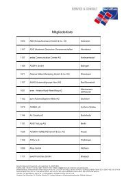 Mitgliederliste - ServiCon Service & Consult eG