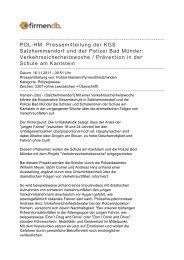POL-HM: Pressemitteilung der KGS Salzhemmendorf ... - Firmendb