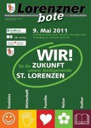 Lorenzner Bote - Ausgabe Mai 2011 (2,12 MB