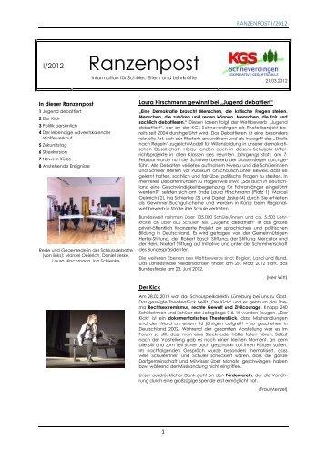 Ranzenpost 1/2012 - KGS Schneverdingen
