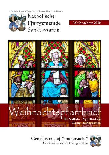 Weihnachtspfarrbrief - Katholische Pfarrgemeinde St. Martin Nottuln
